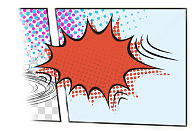 tekstballon voor geluid in een strip