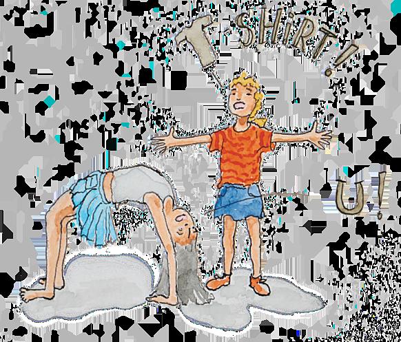 kinderen beelden letters uit, t, u